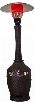 Lhi-158 Liquid Propane Wicker Dome Style Patio Heater With 46 000 Btu Power Rating 8-10 Ft. Heat Radius And Tilt Switch Auto-shutoff In