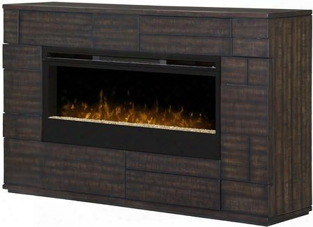 "Markus Gds50g31559bt 74"" Contemporary Mantel Package Complete With Blf50 50"" Firebox With Glass Ember Bed Supplemental Heat And On/off Remote In A Boston"