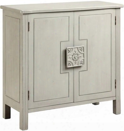 "Sophia 13218 34"" 2-door Cabinet Witho Ne Adjustable Shelf Hand Painted And Tile Inspired Hardware In"
