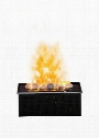 "DFI400RH Opti-Myst 16"" Electric Fireplace Cassette with Heat Receptacle Rocks Opti-Myst Technology Easy-Fill Water Tank and Year-Round"