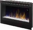 "DFR2551GX 25"" Plug In Electric Firebox with Glass Ember Bed On-Screen Display Safe Ceramic Heat and Multi-Functional"