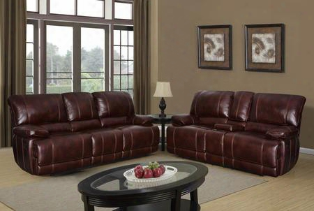 U1953agnescoffeerscrl 2 Piece Set Including Reclining Sofa And Loveseat In Agnes