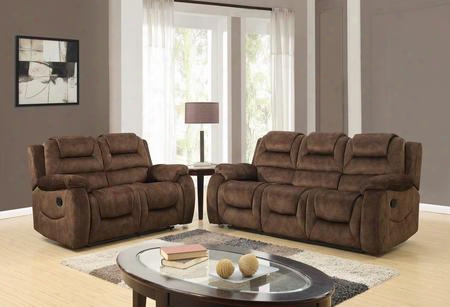 U97370d097rsrls 2 Piece Set Including Reclining Sofa And Loveseat In