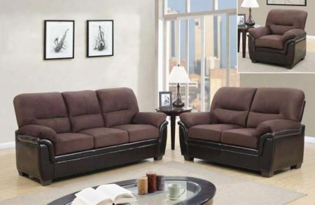 Umc3kdsofalc 3 Piece Set Including Sofa Rider Loveseat And Chair In