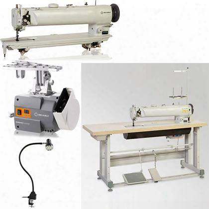 "5600sw Single Needle 25"" Long Arm Walkng Foot Sewing Machine With 1800 Rpm 6000sm Servomotor Uberlight 9000c Smd-led Light And 100% Plywood Tabletop With"