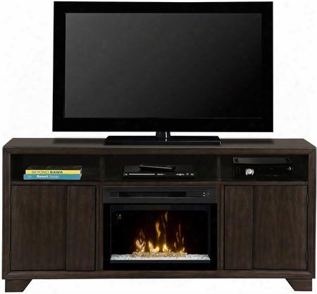 """Arkell Gds52gd1412ag 68"""" Contemporary Media Console In Graphite Finish With Multi-fire Glass Ember Bed Heat Boost And Multi-function"""