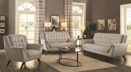 Baby Natalia Collection 511031 3-piece Living Room Set With Sofa Love Seat And Chair In Dove