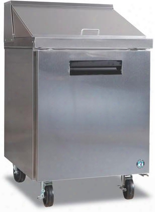 "Crmr27-12m 27"" Commercial Series Sandwich Top And Mega Top With 7.2 Cu. Ft. Capacity Stainless Steel Construction Anodized Aluminum Interior Reversible Door"