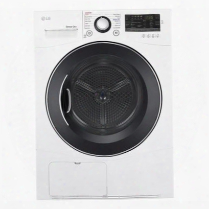 """Dlec888w 24"""" Compact Dryer With 4.2 Cu. Ft. Capacity Ventless Condensing System Wrinkle Care And Front Led Display With Dial-a-cycle In"""