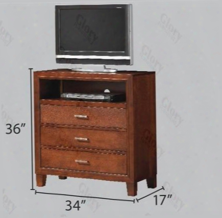 G1200tv Mmedia Chest With Tapered Leg Dovetailed Drawers Decorative Hardware In