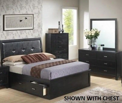 G1250btsbdm 3 Piece Set Including Twin Size Storage Bed Dresser And Mirror In