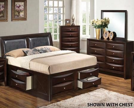 G1525itsb4dm 3 Piece Set Including Twin Size Bed Dresser And Mirror In