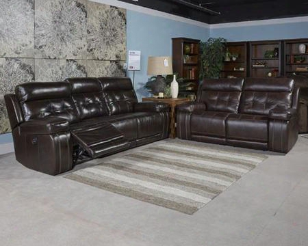 Graford 6470215sl 2 Pc Living Room Set With Power Reclining Sofa + Power Reclining Loveseat In Walnut