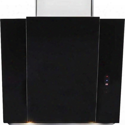 "Hch3400acb 30"" Chimney Vent Hood With 450 Cfm 3 Layer Washable Grease Filter Halogen Lighting In Black"