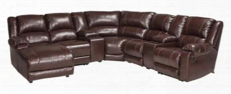 Macgrath Durablend Collection 6090541574677195716 Sectional Sofa With Left Arm Facing Corner Chaise 2 Consoles Armless Chair Wedge Armless Recliner And