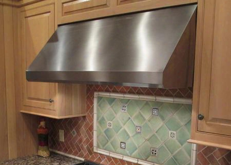 """Maes4818ss1200b 48"""" Wall Range Hood With 1200 Cfm Internal Blower Pro Motor With Metal Impellers Top And Direct Rear Venting 3 Speed Slider With Led"""