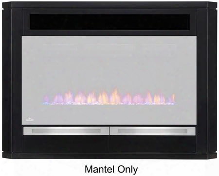 "Nefe42-1815b 54"" Fireplace Mantle With Bottom Drawers Lgass Door And Wire Management In"