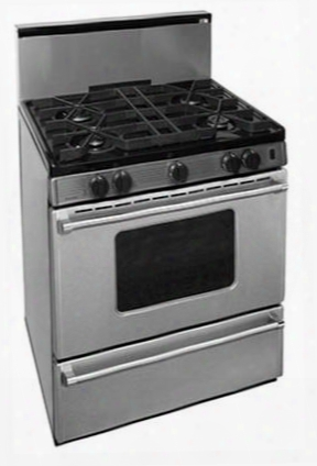"""P30b3202ps 30"""" Pro Series Gas Range With 4 Seald Top Burners Separate Broiler Compartment 17 000 Btu Oven Burner And Battery Spark Ignition In Stainless"""