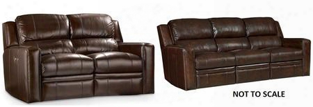 Ss510 2-piece Living Room Set With Forum Harvest Power Motion Sofa And Loveseat In Chocolate