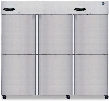 "CR3S-HS 83"" Commercial Series Reach-In Refrigerator with 73.3 cu. ft. Capacity 3 Sections 115 Volts 8 Gauge Stainless Steel Hinge Plate and 9 Adjustable"