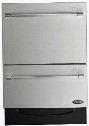 "DD24DV2T7 24"" Energy Star Qualified Double DishDrawer Dishwasher with 14 Place Settings SmartDrive Technology 9 Wash Cycles and Child Lock: Stainless"