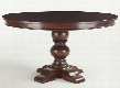 "Pearl Grove ZWPAGO6029 60"" Round Dining Table with Hand-Turned Legs and Solid Mango Wood Construction in Brown"