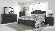 Sharlowe King Bedroom Set with Storage Bed Dresser Mirror Chest and 2 Nightstands in