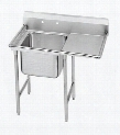 "T9-1-24-18R-X One-Compartment Regaline Sink with Right Side Drainboard 14"" Deep Bowl and 8"" Splash in Stainless"