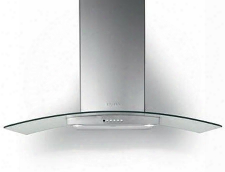 "Trat36ss600b 36"" Tratto Wall Glass Range Hood With 600 Cfm Internal Blower Dishwasher Safe Mesh Filters Two Level Led Lights Delay Auto Shut Off And"