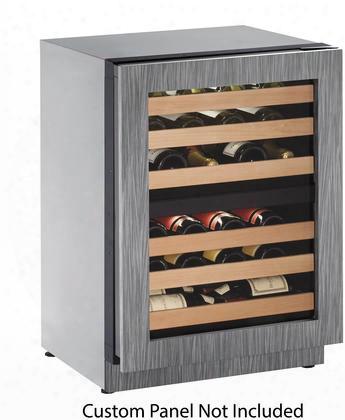 """U-2224zwcint-00b 24"""" Star K Certified 2000 Series Wine Cooler With 43 Bottle Capacity Dual Temperature Zones 6 Wine Racks Reversible Glass Door And Digital"""