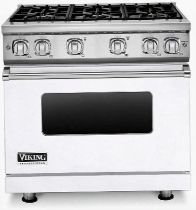 """Vgr73616bwh 36"""" Professional 7 Series Natural Gas Range With 6 Sealed Burners Surespark Ignition System And Varisimmer Setting In"""
