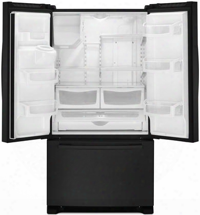 "Afi2539erb 36"" Freestanding French Door Refrigerator With 24.7 Cu. Ft. Total Capacity 4 Adjustable Glasss Helves External Water/ice Dispenser 2 Crisper"