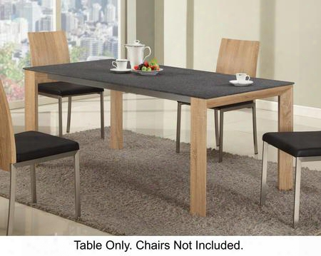 "Alison Collection Alison-dt 71"" Dining Room Table With Black Texture Ground Glass Top And Rubberwood Legs In Light"
