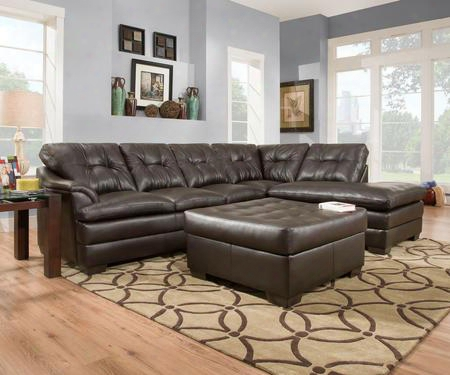 Apollo 51222095  2pieces Set Including Transitional Sectional  Sofa And Ottoman With Tufted Detailing In