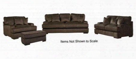 Bisenti 65306slco 4-piece Living Room Set With Sofa Loveseat Chair And Ottoman In Chocolate