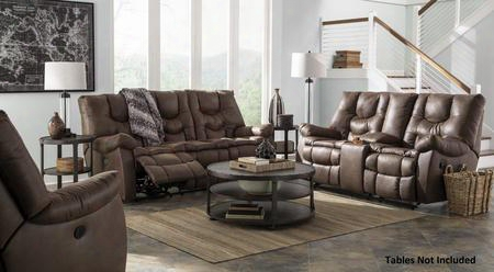 Burgett 92201883pc 3 Pc Living Room Set With Reclining Sofa + Reclining Loveseat + Rocker Recliner In Espresso