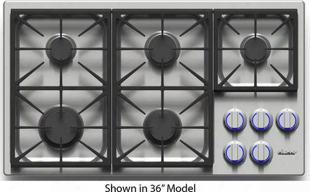 "Dyct304gwngh 30"" Discovery Series Gas Cooktop With 4 Sealed Burners Illumina Burner Controls Simmersear Burners Permaclean Bead Blasted Finish And"