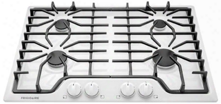 "Ffgc3026sw 30"" Ada Compliant Gas Cooktop With 41500 Total Btu 4 Sealed Burners Continuous Cast Iron Grates Electronic Pilotless Ignition And Ready-select"