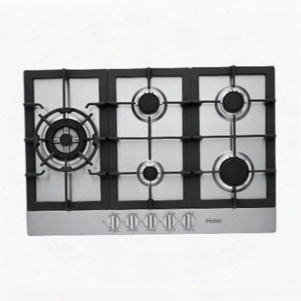"""Hcc3230ags 30"""" Gas Cooktop With 5 Sealed Burners Triple Ring Burner Heavy-duty Continuous Cast Iron Grates Heavy-duty Metal Knobs And Electronic Ignition:"""