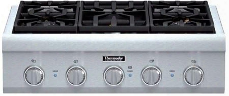 """Pcg305p 30"""" Professional Series Gas Rangetop With 5 Patented Star Burners 59000 Btus Total Output Extralow Precision Simmer Fastest Time To Boil And"""