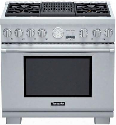 "Prg364nlg 36"" Star K Certified Pro Grand Professional Series Commercial Depth Slide In Range With 4 Patented Star Burners 5.5 Cu. Ft. Oven Capacity 2 Hour"