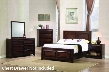 Greenough 400821F Full Bed Night Stand Dresser and Mirror in Maple Oak