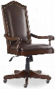 "Haddon Hall Series 5238-30220 48"" Traditional-Style Home Office Tilt Swivel Chair with Casters Adjustable Height and Leather Upholstery in"