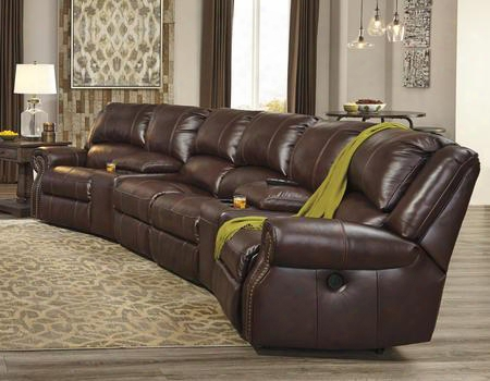 U72100622746462758 Collinsville Sectional Sofa With Right Arm Facing Zero Wall Power Recliner 2 Angled Consoles 2 Armless Chairs And Left Arm Facing Zero