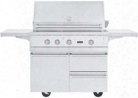 "Vgiq542241nss Natural Gas 42"" Built-in Gas Grill With Bqc5421ss 42"