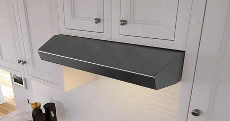 """Ak1236bbs 36"""" Essential Breeze Seriesunder Cabinet Hood With 400 Cfm Blower Britestrip Led Lighting 3 Speed Electronic Controls Auto Delay Off And 2"""