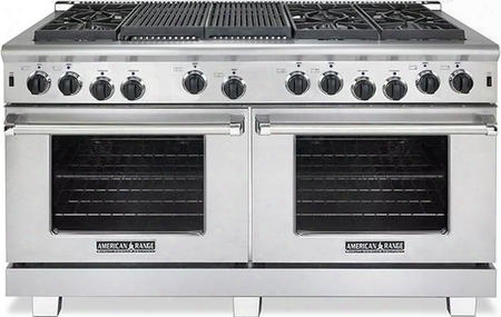 "Arr-6062gr-n 60"" Heritage Series Natural Gas Range With Two 4.4 Cu. Ft. Capacity Ovens 6 Sealed Burners 22"" Grill And Innovection System In Stainless"