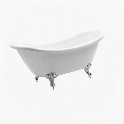 Bt006g Nova 67&quof; Free Standing Acrylic Soaking Tub With Center Drain Pop-up Drain And