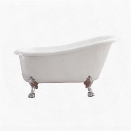 "Bt009g Elise 59"" Free Standing Acrylic Soaking Tub With Rear Drain Pop-up Drain And"