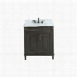 "STERLING-VS30-CL-C Sterling 31"" Vanity in Charcoal Finish with Carrera White Marble"